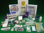 image of the contents of the Advanced Biology Kit for Apex Learning