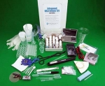 picture that displays the contents of the QSL Advanced MicroChem kit