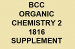 BCC Organic Chemistry 2 - 1816 Supplement