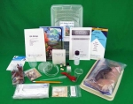 Picture of QSL biology lab kit with contents displayed