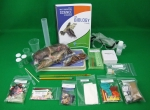 QSL Biology NGSS lab kit image of the contents on display