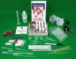 The contents of the QSL Micro Chem lab kit for Online Schools displayed